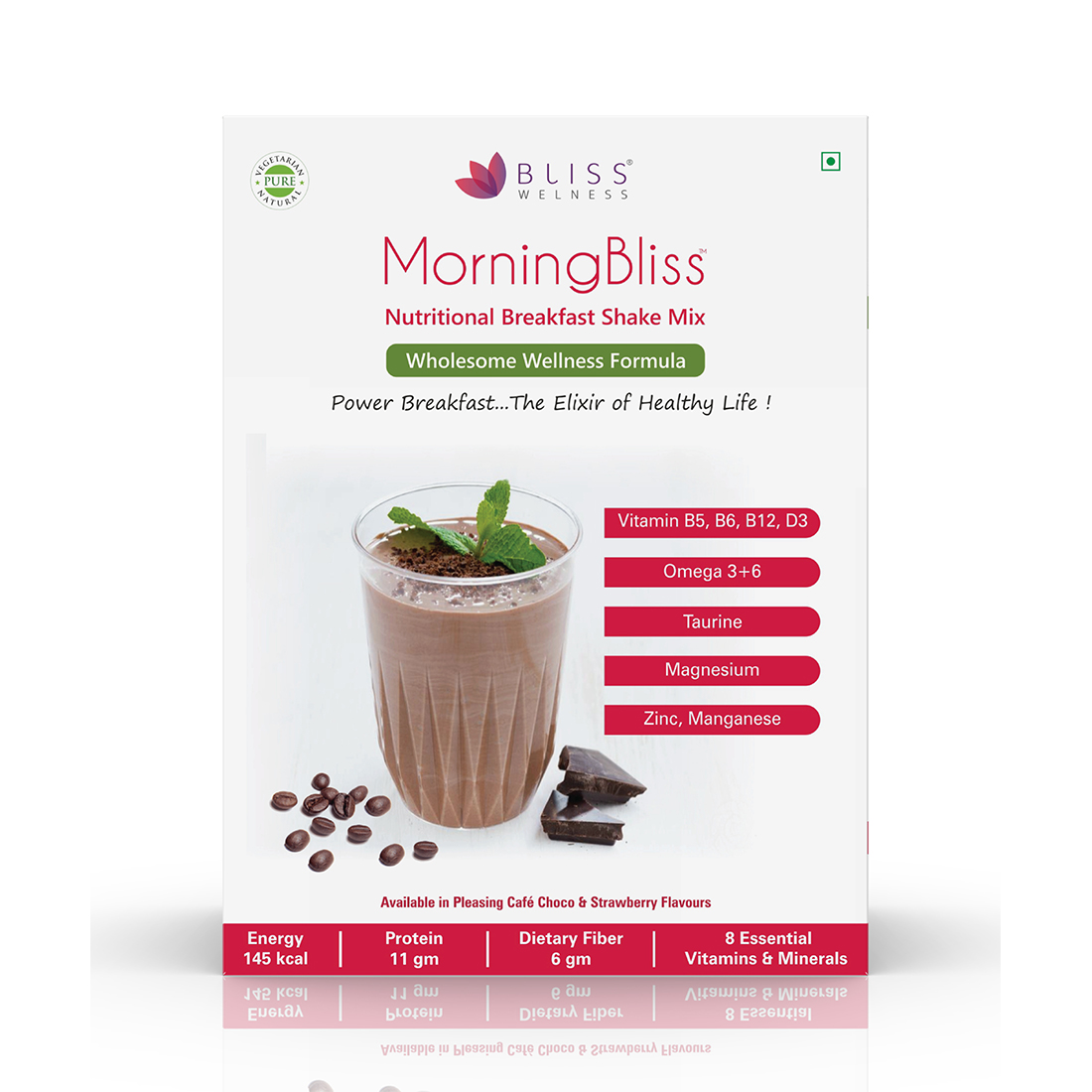 Bliss Welness 'MorningBliss' Nutritional Breakfast Shake Mix – 12 Servings Pack