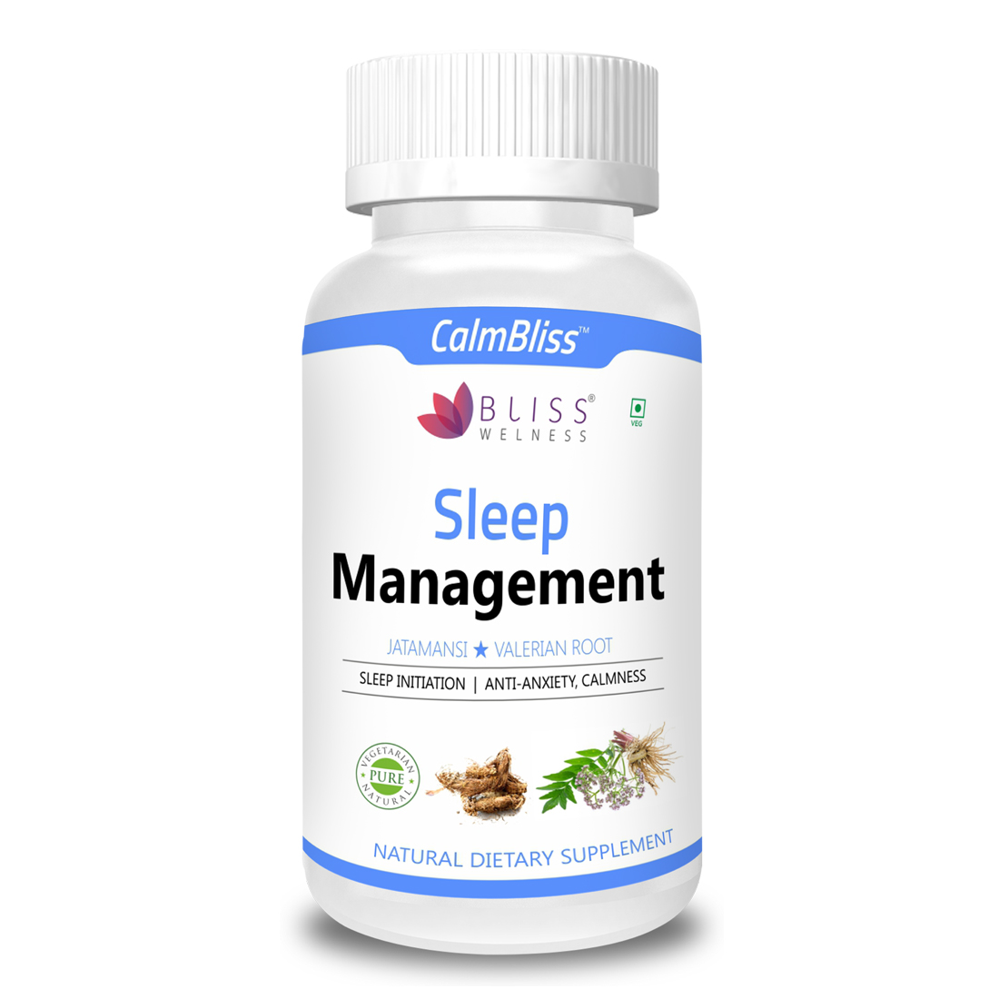 Bliss Welness 'Calm Bliss' Sleep Management Combo of Jatamansi & Valerian Root
