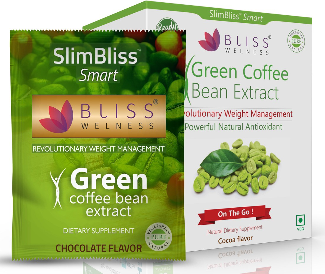 Bliss Welness SlimBliss Smart Green Coffee Bean Extract Ready-To-Eat Cocoa Flavor- 20 Servings