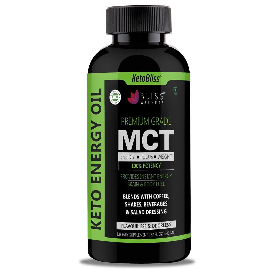 Bliss Welness 'Keto Bliss' MCT Energy Oil- Medium Chain Triglyceride